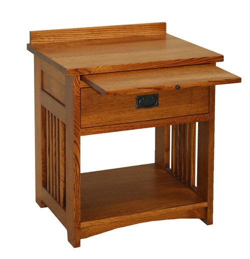 American Mission Bedside Table with Pullout Shelf AMW-2401S-F