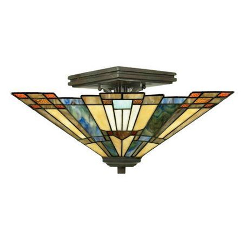 Arts and Crafts Style Semi-Flush Mount