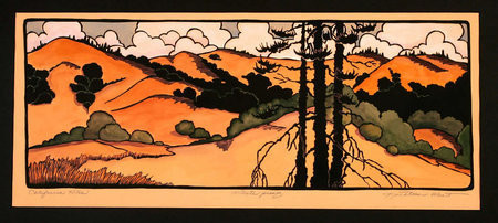 California hills print for Arts and crafts style prints