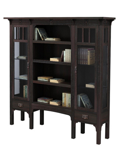 The Downing Street Executive Curio Desk: Black Mountain Book Cabinet/ Display DD-JS3407