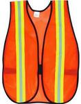 "Orange Mesh Safety Vest w/ 1"" Reflective Stripe"
