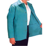 "30"" Medium Green Fire Resistant Fabric Coat"
