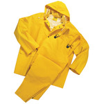 XXL Rain Suit - 3 Pc w/Pants, Jacket, and Hood - 35 Mil Heavy Duty