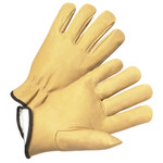 Medium Full Grain Leather Pig Driver Style Glove W/Insulated Lining 1dz