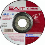 "4-1/2x1/4"" Type 27 A24N Stainless Grinding Wheel"