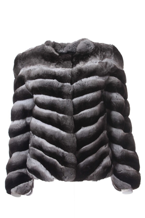 Chinchilla Fur Jacket Low cut