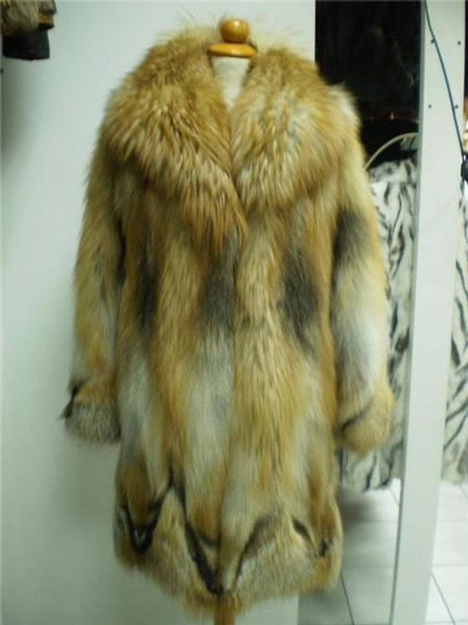 Fox Fur Coat Red size Xs to XXXL
