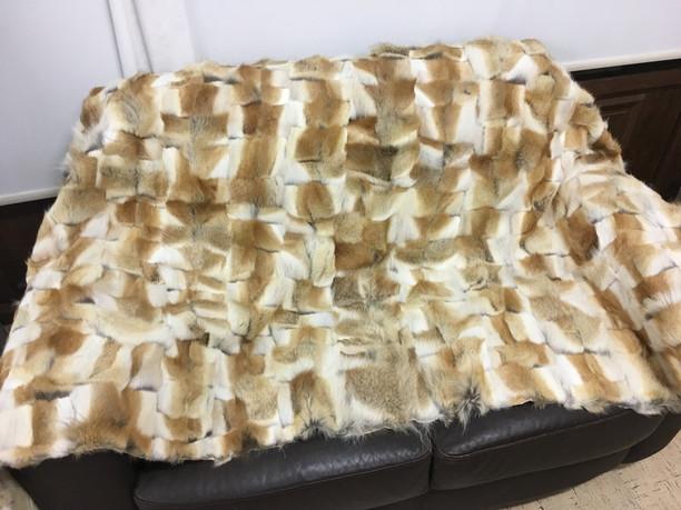 coyote fur blanket/throw