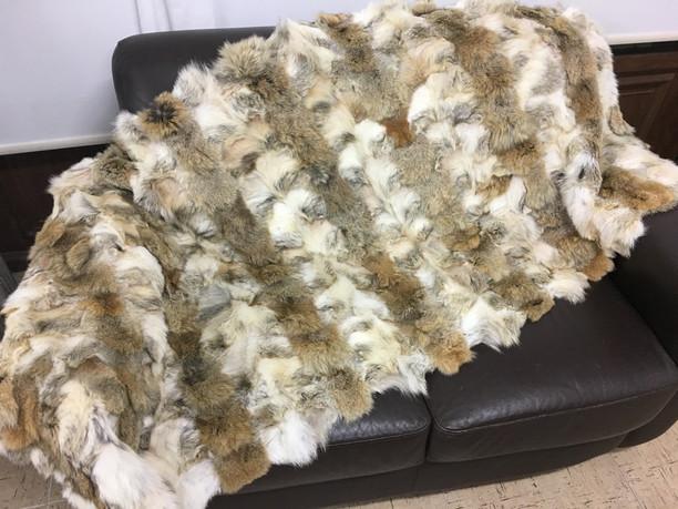 coyote light brown fur blanket/throw