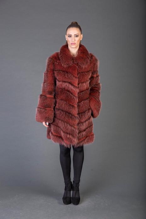 Red Racoon fur Coat