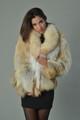 Golden Fox Fur Coat
