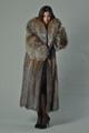 Full Length Crystal Fox Fur Coat Hooded
