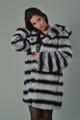 Rex Chinchilla Fur Coat Hooded Mid Hip Length