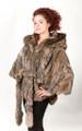 Canadian Lynx Fur Cape Hood Belt