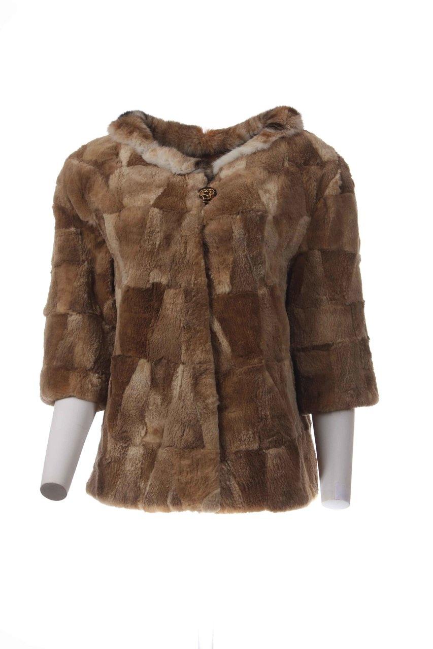 Brown Beaver Fur Jacket Low cut - SKANDINAVIK FUR