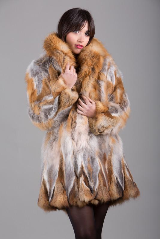 Red Fox Fur Coat - SKANDINAVIK FUR