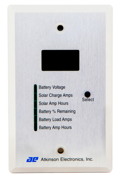 A high quality brushed aluminum face plate.