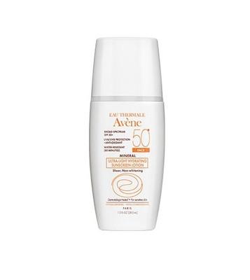 Avene MINERAL Ultra-Light Hydrating Sunscreen Face Lotion SPF 50+