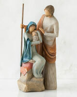 Willow Tree Nativity (R) - The Holy Family -  'A child is born'