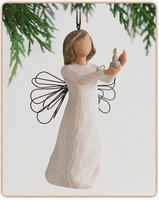 Willow Tree Nativity (R) - Angel of Hope Ornament - 'Each day, hope anew'