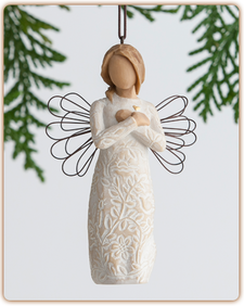 Willow Tree Nativity (R) - Remembrance Ornament - 'Memories... hold each one safely in your heart'