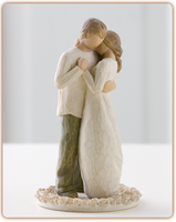 Willow Tree (R) Cake Topper - Promise Cake Topper - 'Hold dear the promise of love'