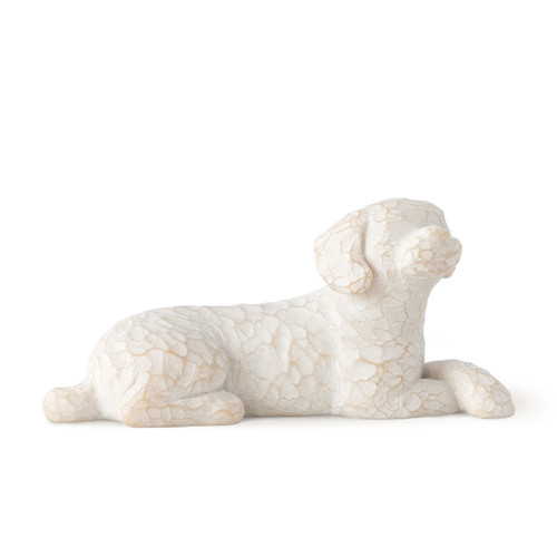 Willow Tree (R) - Love my Dog  (small, lying) Front View