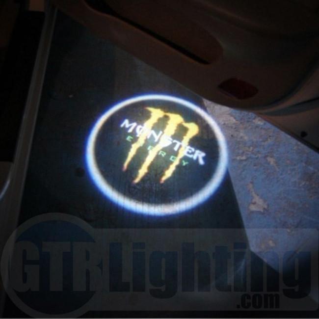 GTR Lighting LED Logo Projectors, Green Monster Energy Logo, #28
