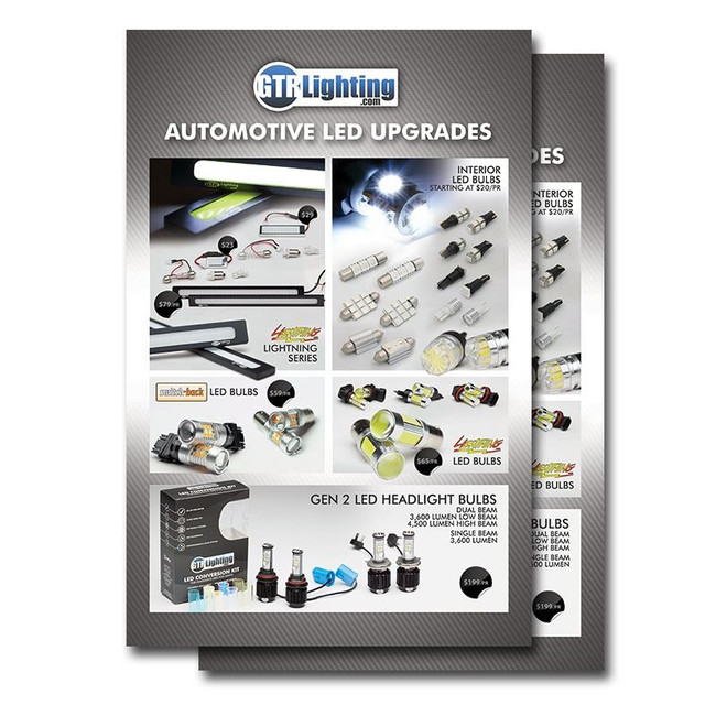 GTR Lighting LED Options Poster