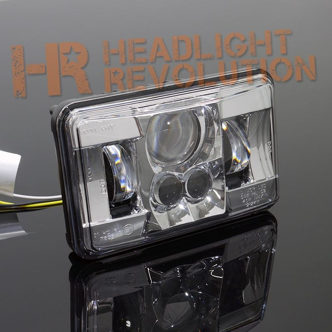"JW Speaker 8800 Evolution-2 LED 4x6"" Low Beam Headlight - Chrome"