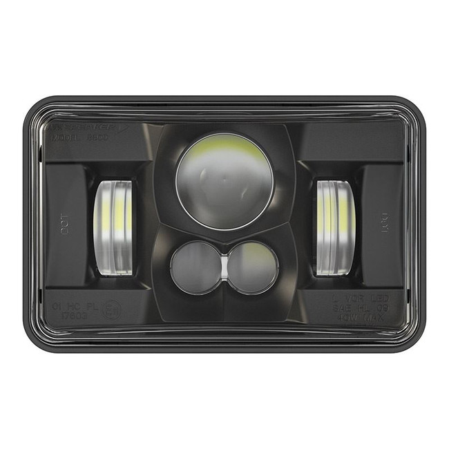 "JW Speaker 8800 Evolution 2 LED 4x6"" Low Beam Headlight - Black"