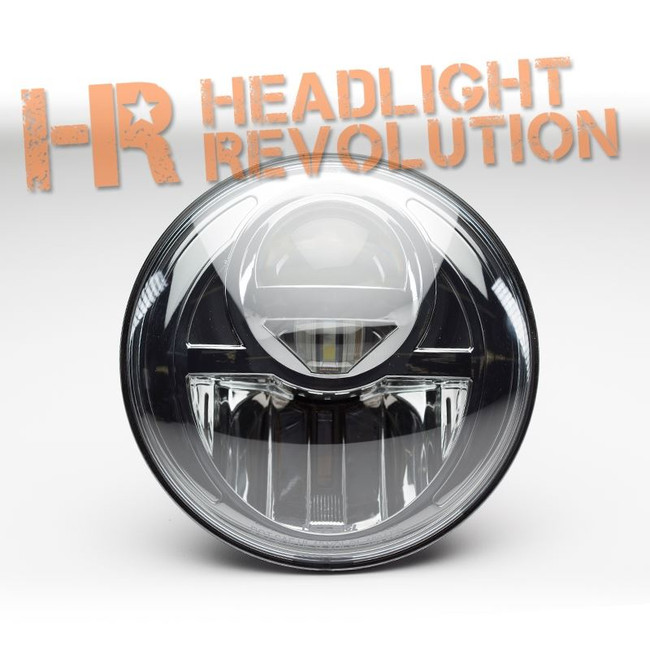 "Nolden 7"" Round Bi-LED Headlight Housing - DOT H4 Style"