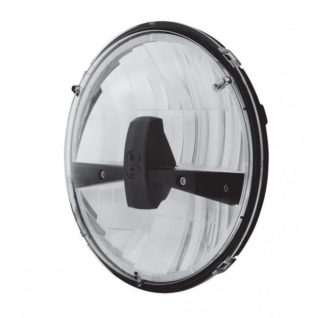 "United Pacific 31400-B 7"" Round Black LED Reflector Headlight"