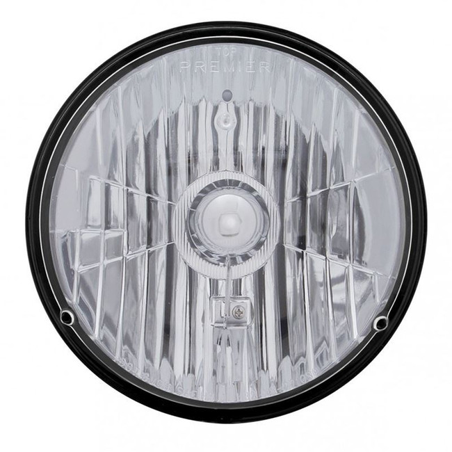 """United Pacific 31387 7"""" Round High and Low Beam Chrome Reflector Headlight Housing"""