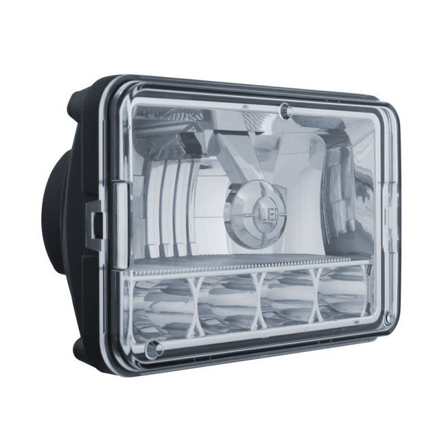 "United Pacific 31365 4x6"" 5 LED High/Low Crystal Headlight"
