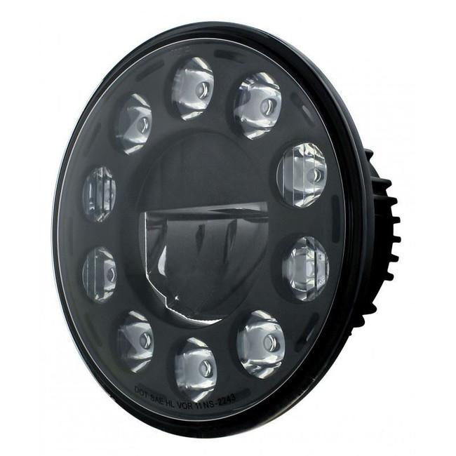 "United Pacific 31353 Black 7"" Round 11-LED Headlight"