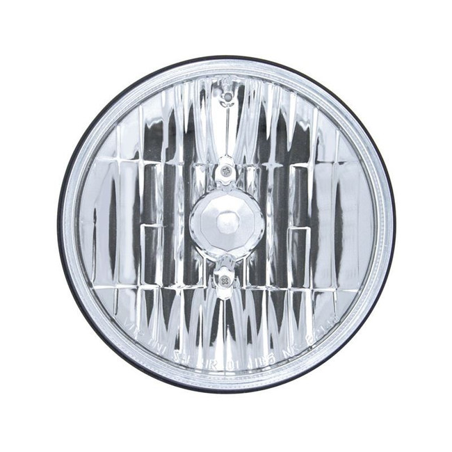 "United Pacific 31386 5.75"" Round High and Low Beam Chrome Reflector Headlight"