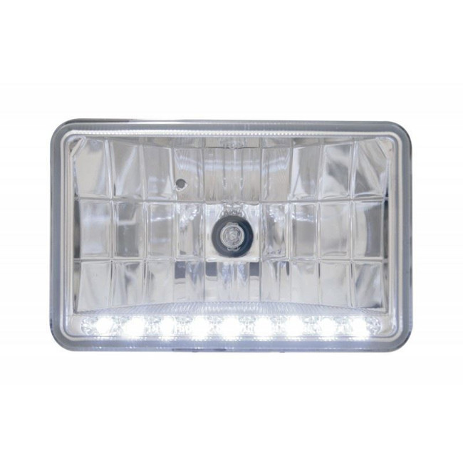 "United Pacific 31369 4x6"" High Beam Headlight w/ 9 White LEDs"