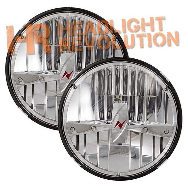 "Anzo USA 7"" Round LED Headlight with Logo - Chrome"