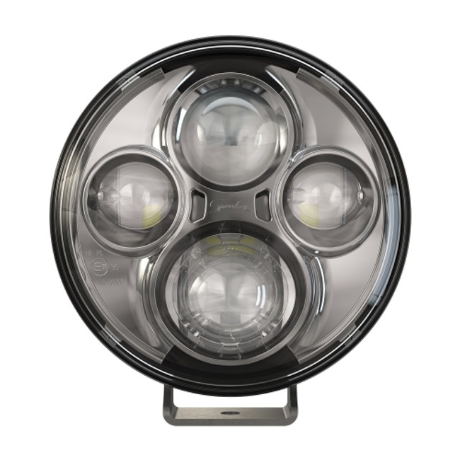 """JW Speaker Model TS4000 12/24V 7"""" Round Chrome High Beam Pedestal Mount Auxiliary Light"""