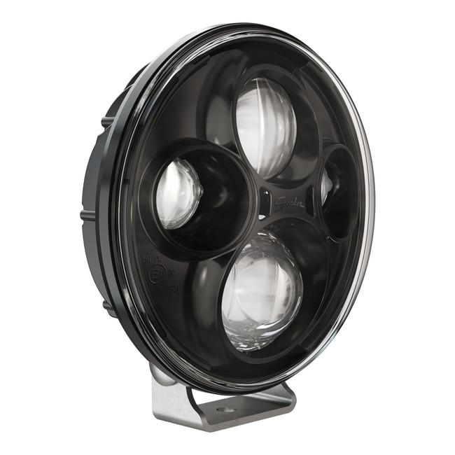 """JW Speaker Model TS4000 12/24V 7"""" Round Black High Beam Pedestal Mount Auxiliary 2-Light Kit"""
