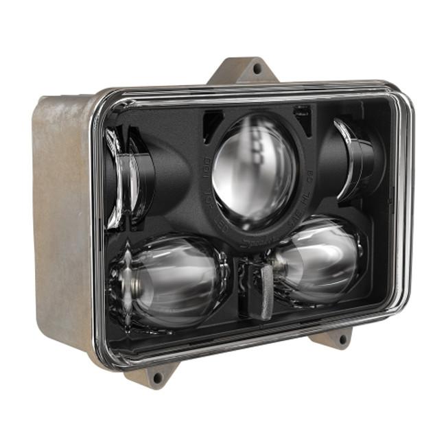 "JW Speaker Model 8820 12/24 High Low DOT 4x6"" LED Military Headlamp - 3 Point Mount RHT"