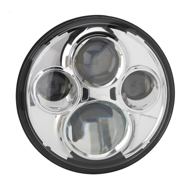 """JW Speaker Model 8710 12/24V 7"""" Round High Beam Driving Light - Chrome"""