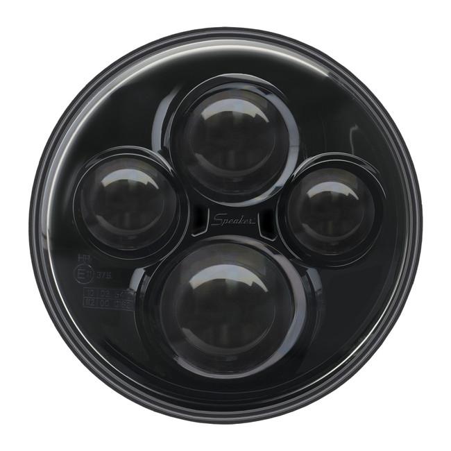 """JW Speaker Model 8710 12/24V 7"""" Round High Beam Driving Light - Black"""