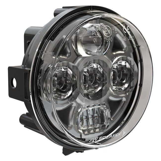 "JW Speaker Model 8415 Evolution PAR36 4.5"" Round LED Headlight 12-24V SAE/ECE LED High/Low Beam Light with Xenoy Housing & Adjustable Mount"