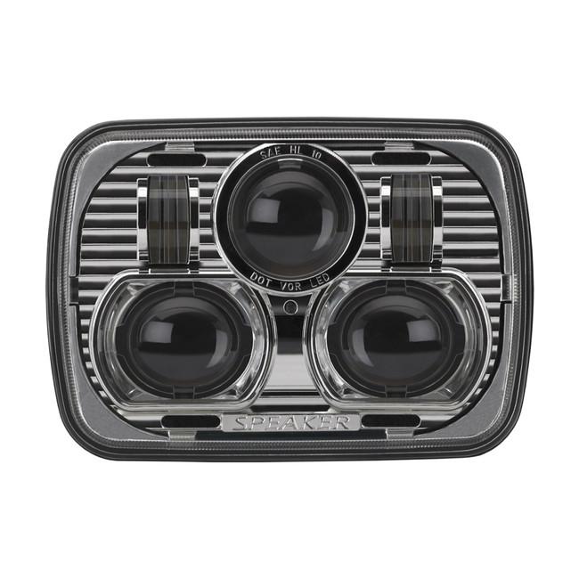 """JW Speaker 8900 Evolution LED 5x7"""" Headlight - Chrome"""