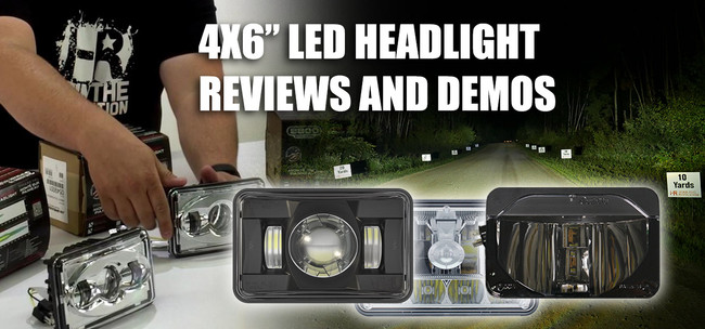 """4x6"""" LED Headlight Reviews and Demo Videos"""