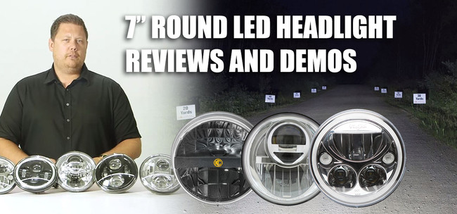 """7"""" Round LED Headlight Comparison and Review Videos"""