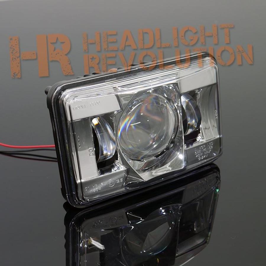 """JW Speaker 8800 Evolution-2 LED 4x6"""" High Beam Headlight - Chrome"""