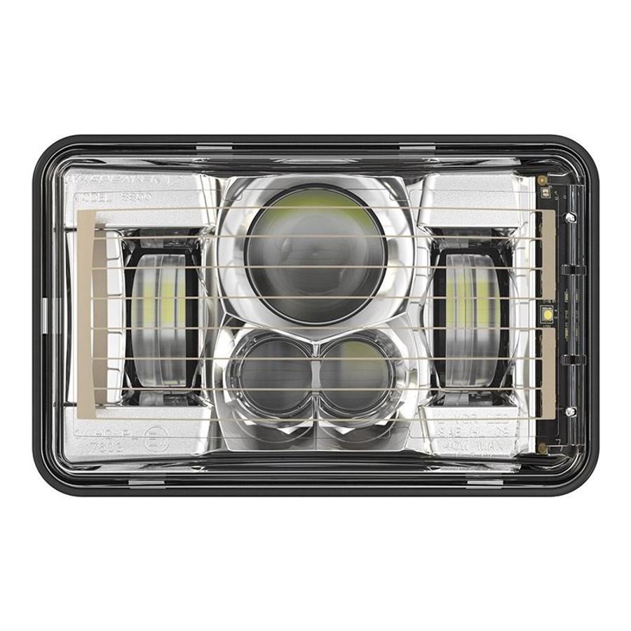 "JW Speaker 8800 Evolution-2 LED 4x6"" Low Beam Headlight Heated - Chrome"